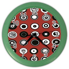 Circles Red Black White Color Wall Clocks
