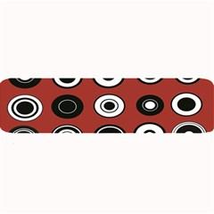 Circles Red Black White Large Bar Mats