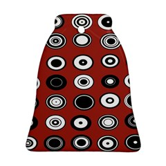Circles Red Black White Bell Ornament (Two Sides)