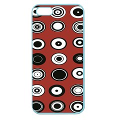 Circles Red Black White Apple Seamless iPhone 5 Case (Color)