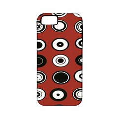Circles Red Black White Apple iPhone 5 Classic Hardshell Case (PC+Silicone)