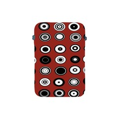 Circles Red Black White Apple iPad Mini Protective Soft Cases