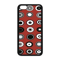 Circles Red Black White Apple iPhone 5C Seamless Case (Black)