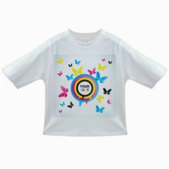 Colorful Butterfly Rainbow Circle Animals Fly Pink Yellow Black Blue Text Infant/Toddler T-Shirts