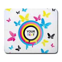 Colorful Butterfly Rainbow Circle Animals Fly Pink Yellow Black Blue Text Large Mousepads