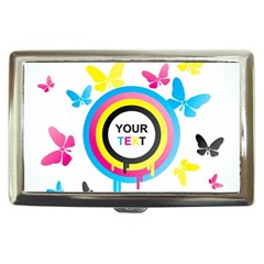 Colorful Butterfly Rainbow Circle Animals Fly Pink Yellow Black Blue Text Cigarette Money Cases