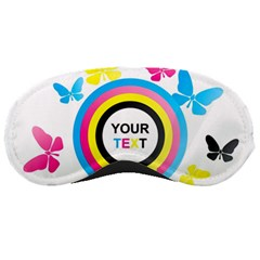 Colorful Butterfly Rainbow Circle Animals Fly Pink Yellow Black Blue Text Sleeping Masks