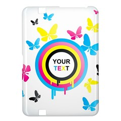 Colorful Butterfly Rainbow Circle Animals Fly Pink Yellow Black Blue Text Kindle Fire HD 8.9
