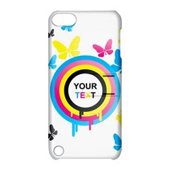 Colorful Butterfly Rainbow Circle Animals Fly Pink Yellow Black Blue Text Apple Ipod Touch 5 Hardshell Case With Stand
