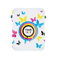 Colorful Butterfly Rainbow Circle Animals Fly Pink Yellow Black Blue Text Apple iPad 2/3/4 Protective Soft Cases