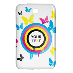 Colorful Butterfly Rainbow Circle Animals Fly Pink Yellow Black Blue Text Samsung Galaxy Tab 3 (7 ) P3200 Hardshell Case