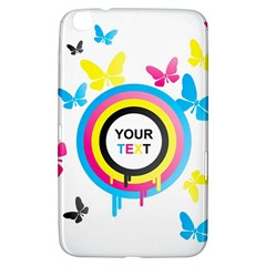 Colorful Butterfly Rainbow Circle Animals Fly Pink Yellow Black Blue Text Samsung Galaxy Tab 3 (8 ) T3100 Hardshell Case
