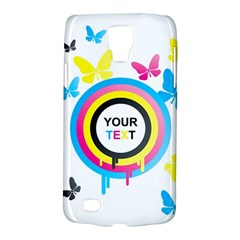 Colorful Butterfly Rainbow Circle Animals Fly Pink Yellow Black Blue Text Galaxy S4 Active