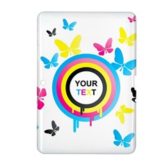 Colorful Butterfly Rainbow Circle Animals Fly Pink Yellow Black Blue Text Samsung Galaxy Tab 2 (10.1 ) P5100 Hardshell Case