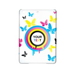 Colorful Butterfly Rainbow Circle Animals Fly Pink Yellow Black Blue Text iPad Mini 2 Hardshell Cases