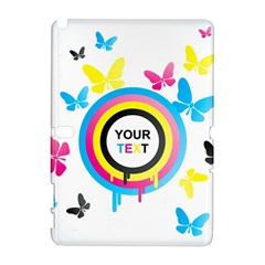 Colorful Butterfly Rainbow Circle Animals Fly Pink Yellow Black Blue Text Galaxy Note 1