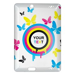 Colorful Butterfly Rainbow Circle Animals Fly Pink Yellow Black Blue Text Amazon Kindle Fire HD (2013) Hardshell Case