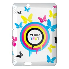 Colorful Butterfly Rainbow Circle Animals Fly Pink Yellow Black Blue Text Kindle Fire HDX Hardshell Case