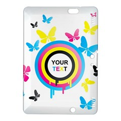 Colorful Butterfly Rainbow Circle Animals Fly Pink Yellow Black Blue Text Kindle Fire HDX 8.9  Hardshell Case