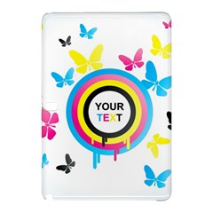 Colorful Butterfly Rainbow Circle Animals Fly Pink Yellow Black Blue Text Samsung Galaxy Tab Pro 10.1 Hardshell Case