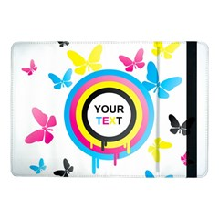 Colorful Butterfly Rainbow Circle Animals Fly Pink Yellow Black Blue Text Samsung Galaxy Tab Pro 10 1  Flip Case