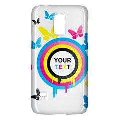 Colorful Butterfly Rainbow Circle Animals Fly Pink Yellow Black Blue Text Galaxy S5 Mini