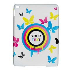 Colorful Butterfly Rainbow Circle Animals Fly Pink Yellow Black Blue Text iPad Air 2 Hardshell Cases