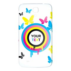 Colorful Butterfly Rainbow Circle Animals Fly Pink Yellow Black Blue Text Samsung Galaxy Mega I9200 Hardshell Back Case