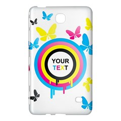 Colorful Butterfly Rainbow Circle Animals Fly Pink Yellow Black Blue Text Samsung Galaxy Tab 4 (7 ) Hardshell Case