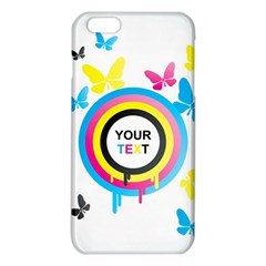 Colorful Butterfly Rainbow Circle Animals Fly Pink Yellow Black Blue Text iPhone 6 Plus/6S Plus TPU Case