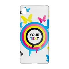 Colorful Butterfly Rainbow Circle Animals Fly Pink Yellow Black Blue Text Sony Xperia Z3+