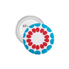 Egg Circles Blue Red White 1.75  Buttons