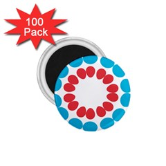 Egg Circles Blue Red White 1.75  Magnets (100 pack)