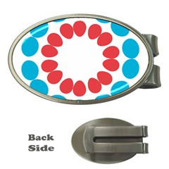 Egg Circles Blue Red White Money Clips (Oval)