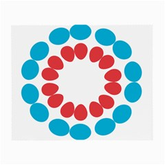 Egg Circles Blue Red White Small Glasses Cloth (2-Side)