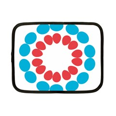 Egg Circles Blue Red White Netbook Case (Small)