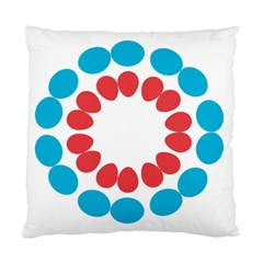 Egg Circles Blue Red White Standard Cushion Case (One Side)