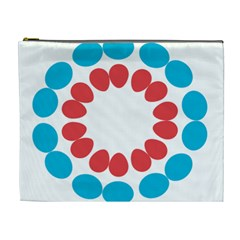 Egg Circles Blue Red White Cosmetic Bag (XL)