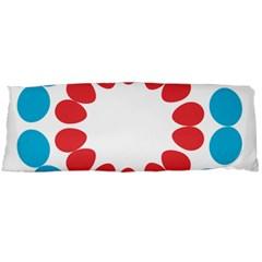 Egg Circles Blue Red White Body Pillow Case (Dakimakura)