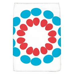 Egg Circles Blue Red White Flap Covers (L)