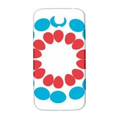 Egg Circles Blue Red White Samsung Galaxy S4 I9500/I9505  Hardshell Back Case