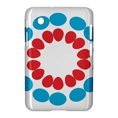 Egg Circles Blue Red White Samsung Galaxy Tab 2 (7 ) P3100 Hardshell Case