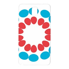 Egg Circles Blue Red White Samsung Galaxy Note 3 N9005 Hardshell Back Case