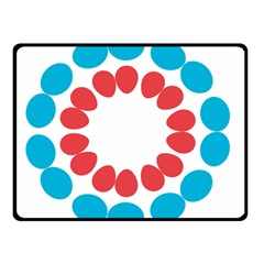 Egg Circles Blue Red White Double Sided Fleece Blanket (Small)