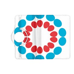Egg Circles Blue Red White Kindle Fire HD (2013) Flip 360 Case