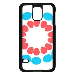 Egg Circles Blue Red White Samsung Galaxy S5 Case (Black)