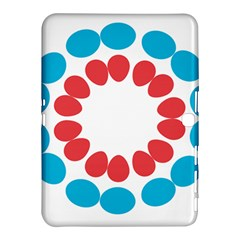 Egg Circles Blue Red White Samsung Galaxy Tab 4 (10.1 ) Hardshell Case