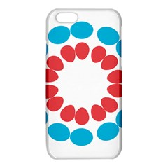 Egg Circles Blue Red White iPhone 6/6S TPU Case