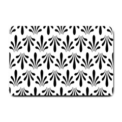 Floral Black White Small Doormat