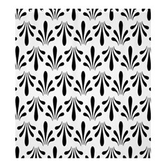 Floral Black White Shower Curtain 66  x 72  (Large)